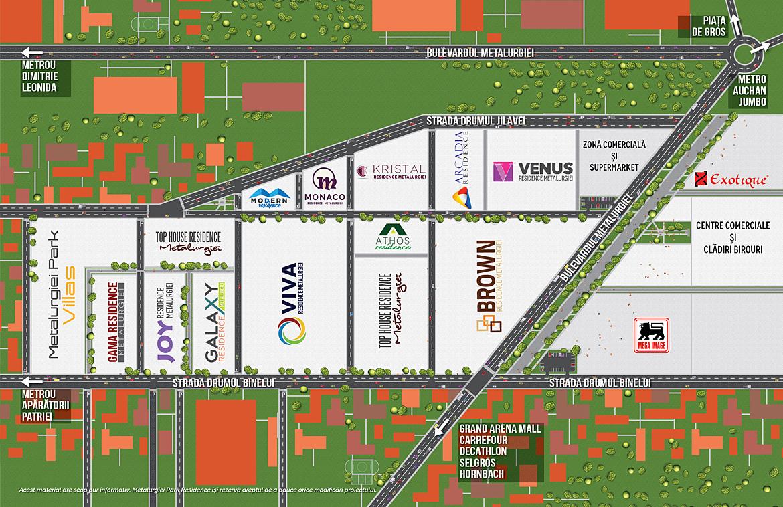 harta Metalurgiei Park Residence