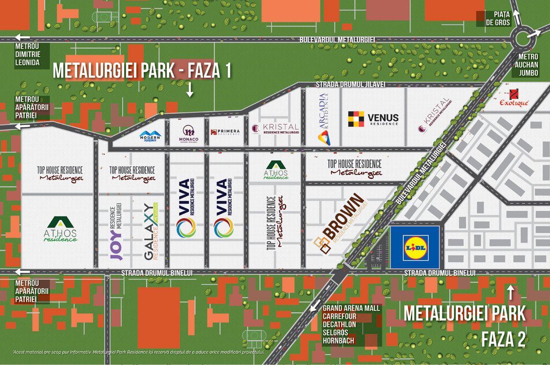 harta Athos Residence Metalurgiei Park Residence