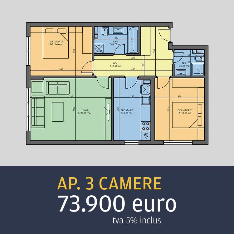 apartamente 3 camere Arcadia Metalurgiei