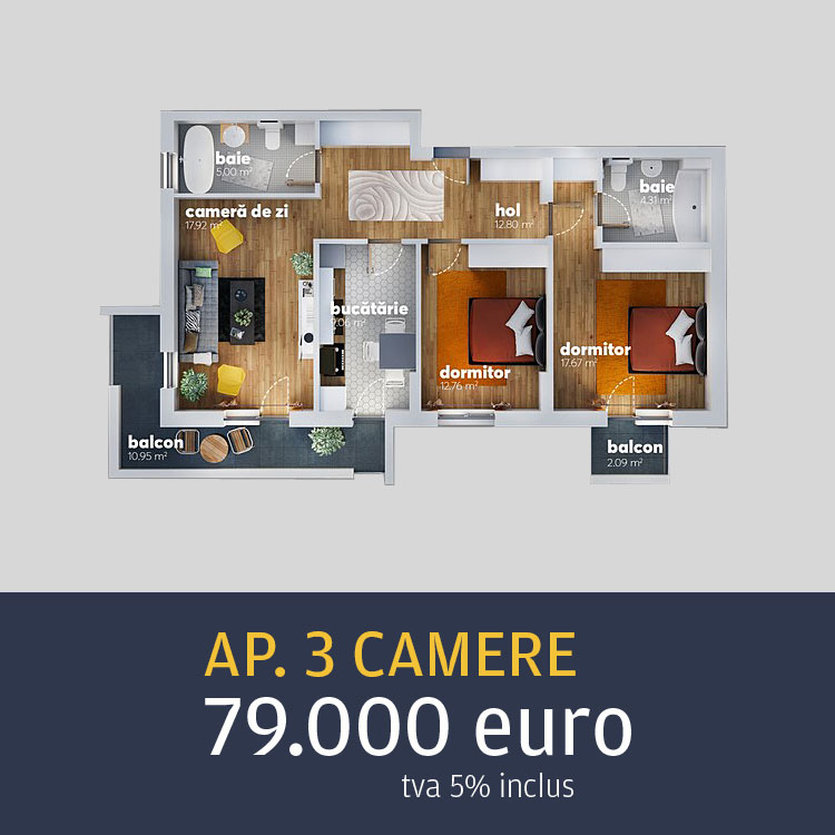 apartamente 3 camere Metalurgiei Residence
