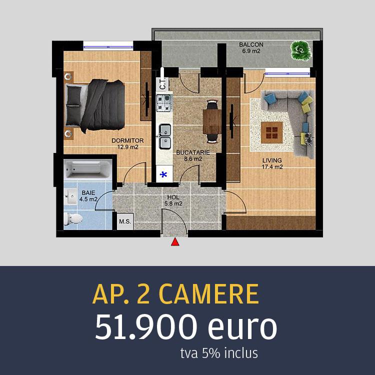 Apartamente ieftine 2 camere Metalurgiei