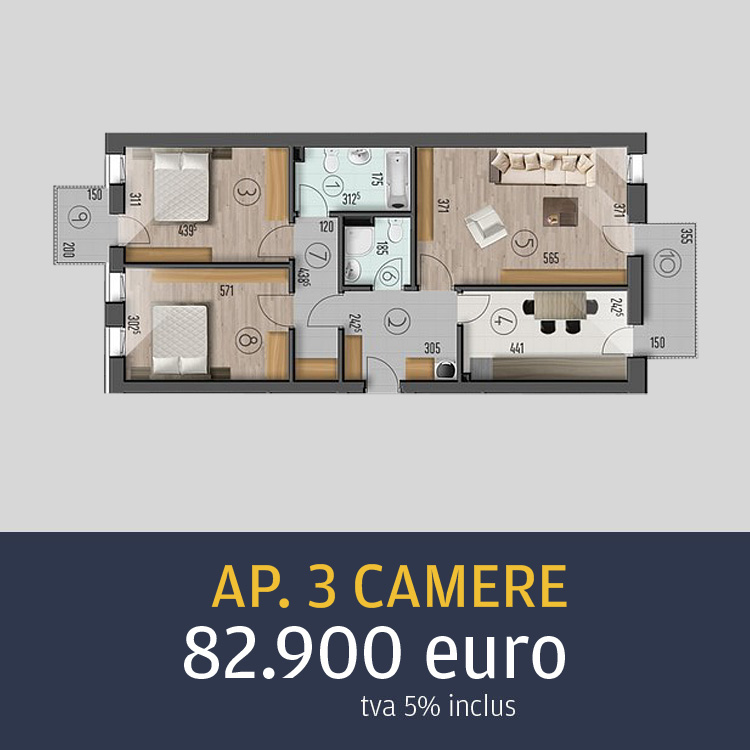 apartamente 3 camere Top House Metalurgiei