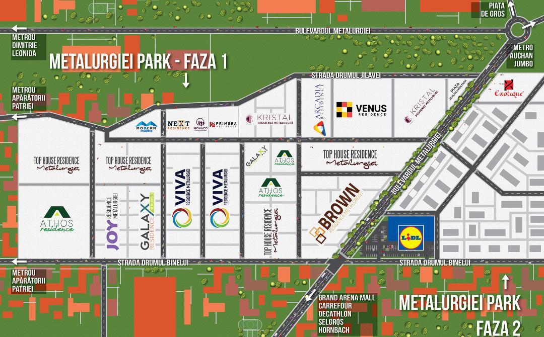 localizare Top house Residence Metalurgiei Park