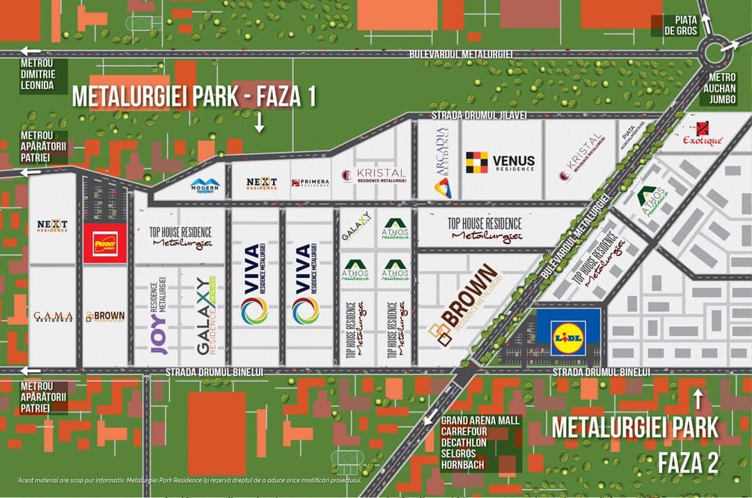 Localizare Metalurgiei Park Residence
